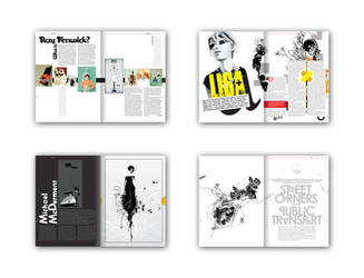 Brown magazine spreads by or5