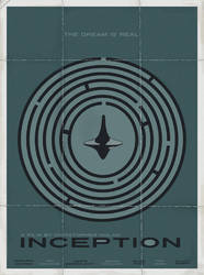 Inception minimal movie poster by LamechO