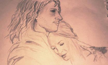 Lord Faramir and Lady Eowyn by Kyra-Fletcher