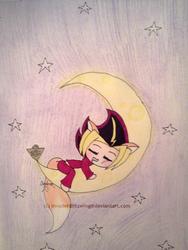 Yu-Gi-Oh - Fox Yami - Sleeping on the moon by InvaderBlitzwing