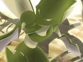 Pokemon Scyther Silvestre by Sorocabano