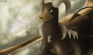 Pokemon Houndoom by Sorocabano