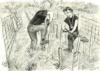 Planting Trees (Poole Farm) by LordCraigus