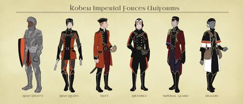 AA: Koben Imperial Forces Uniforms by 2StreetsDown