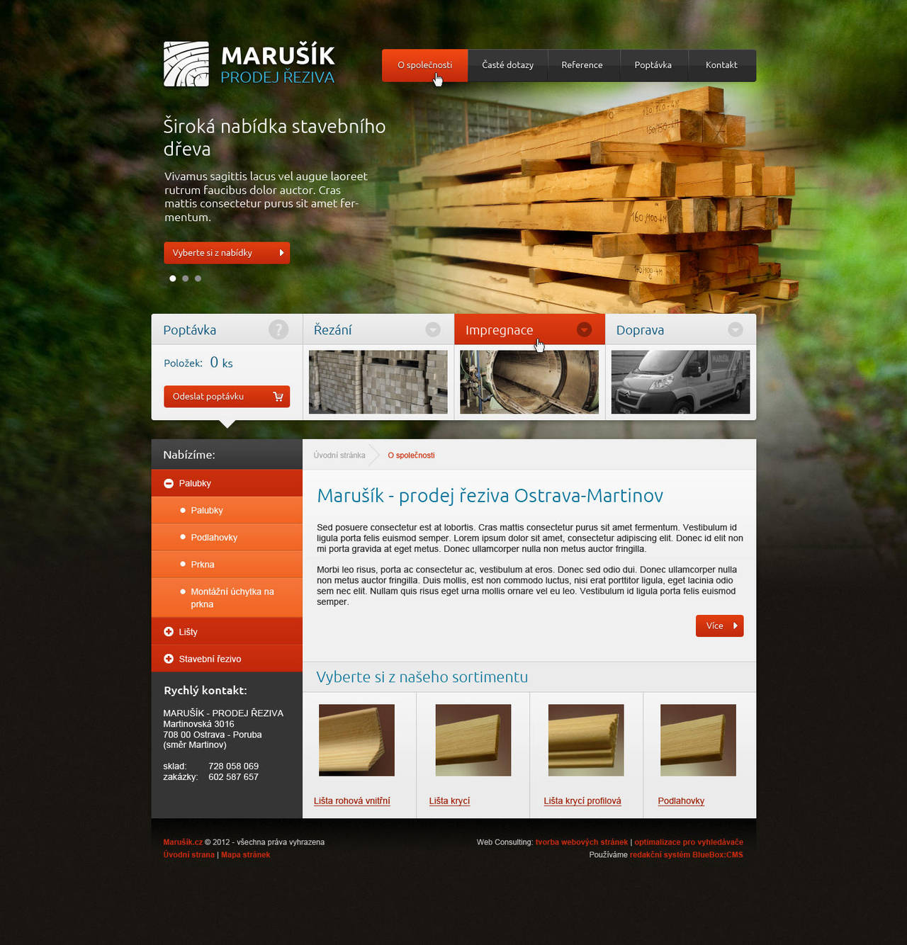 Webdesign for woodworking company by dan-Es