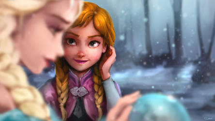 Anna and Elsa by DarrenGeers
