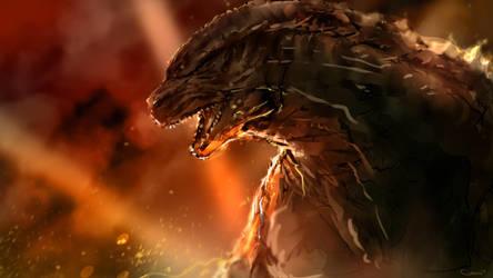 Godzilla speedpaing by DarrenGeers