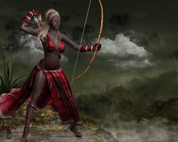 Dark Elf: Huntress by black-Kat-3D-studio