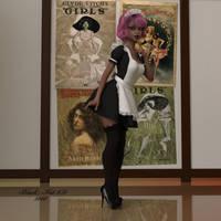 Luna: Sexy Maid by black-Kat-3D-studio