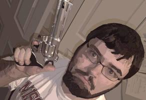 Landon with Gun vector by spikerman87