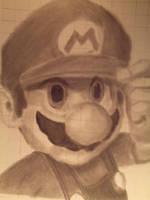 Mario Grid Drawing by spikerman87
