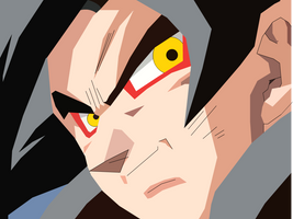 Goku Super Sayian 4 by spikerman87
