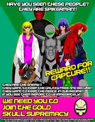 Gold Skull Supremacy Propaganda poster3 by spikerman87