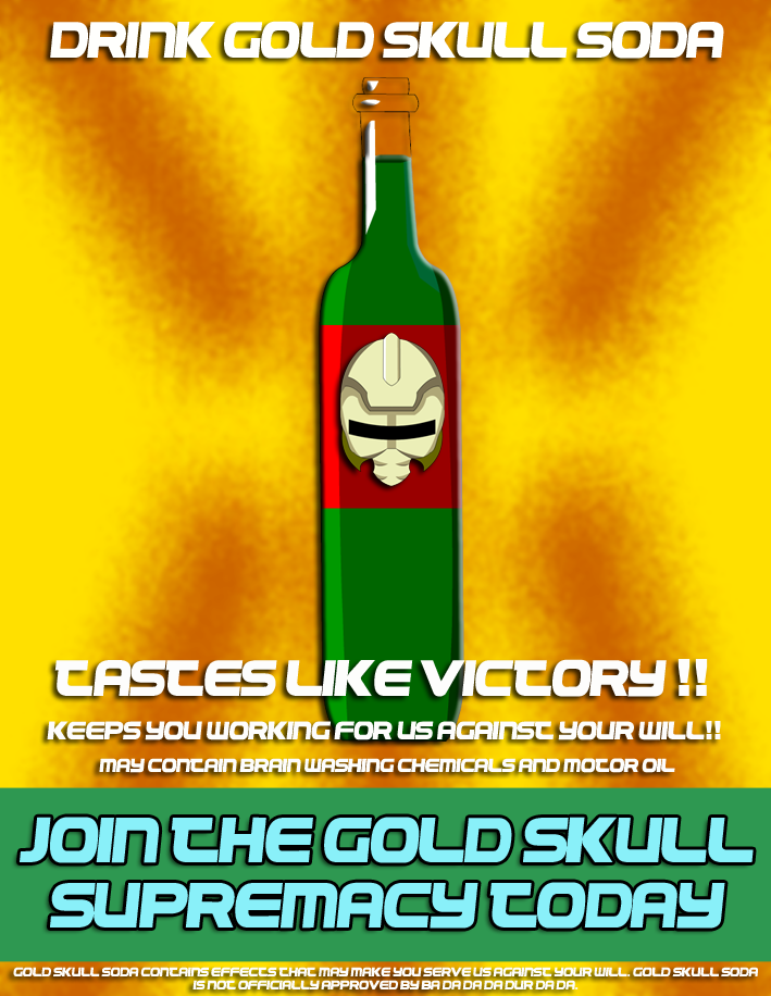 Gold Skull Supremacy Propaganda poster5 by spikerman87