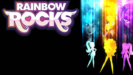 Rainbow Rocks: The Dazzlings Cover (Background) by WrightGerman