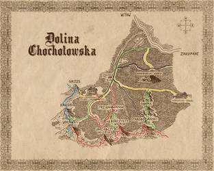 Mapa Doliny Chocholowskiej by BobBobuszko