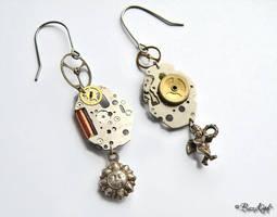 Steampunk Earrings by BaziKotek