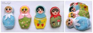 Seasonal Matrioshka Dolls by BaziKotek