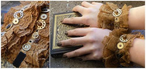 Steampunk Wrist Cuffs by BaziKotek