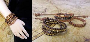Steampunk Adventurer BJD bracelets by BaziKotek