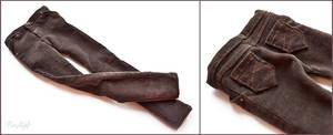 BJD Brown Washed Corduroy Pants by BaziKotek