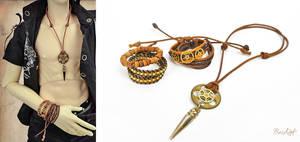 Steampunk Adventurer BJD jewelry set by BaziKotek