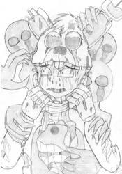 FNAF - Traped Skizze by Cat-Nozomi