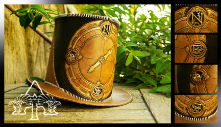 Steampunk hat by atelierdutroll