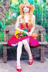 RED DRESS - ASUKA by Mostflogged