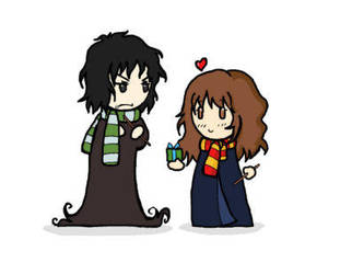 Snape and Hermione 1 by BakaMokona