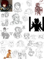 DnD: Mixed Dump 2 by asyrill