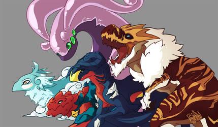 5 Dragons by asyrill
