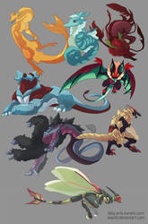 The Other Dragons by asyrill