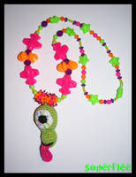 Green Monster Necklace by SuperFlee
