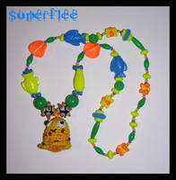Yellow Monster Necklace by SuperFlee