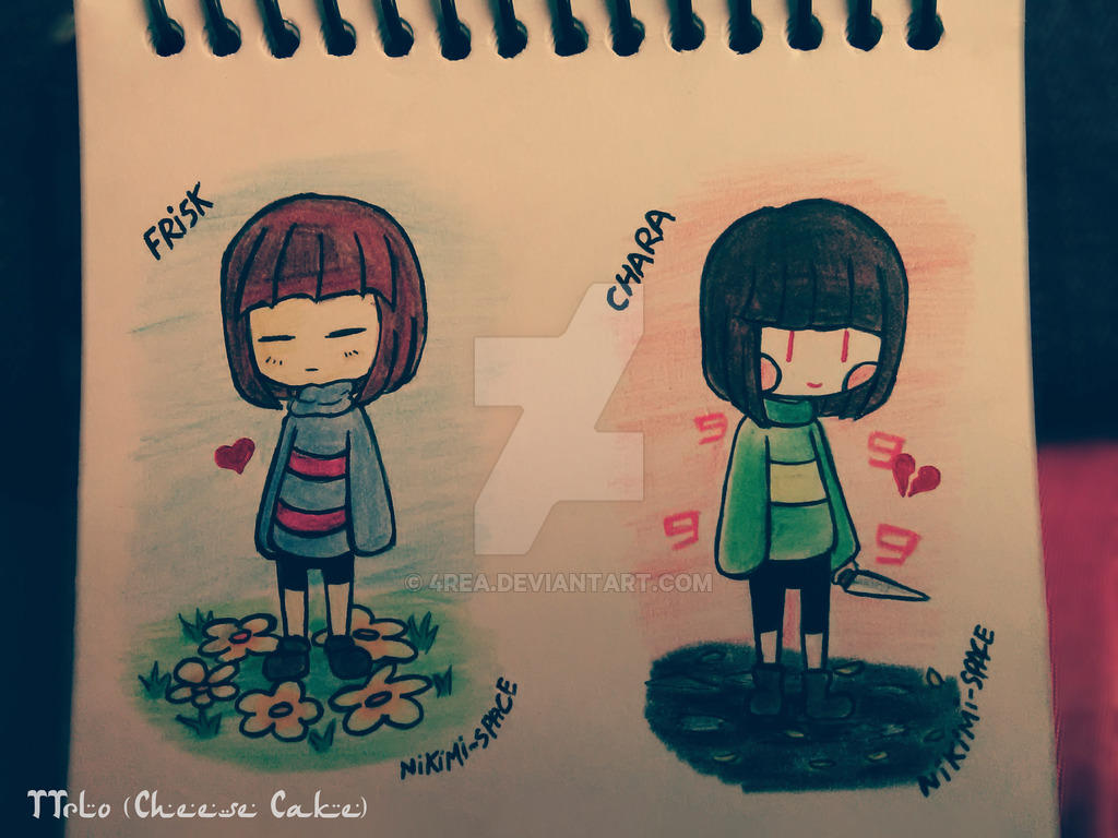 Frisk y Chara By 4rea by 4REA