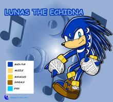 Lunas the Echidna Ref by Arkus0