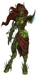 Forester Elf's Warrior by Serg-Natos