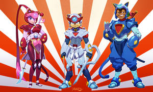 Rat Rage SAMURAI PIZZA CATS by Robaato