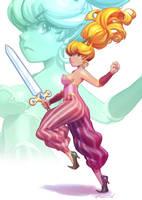 That Tough Elf Gal by Robaato