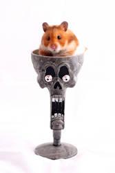 Halloween hamster by sandalwood92