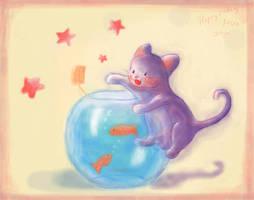 Fish + Cat -hira's present- by jubilri