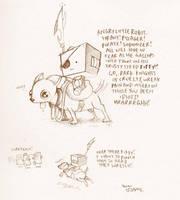 angry little robot wretch by icanseeyourmonkey