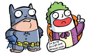 Batman and Joker by icanseeyourmonkey
