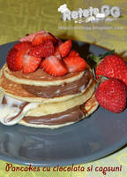Strawberry chocolate pancakes by DanutzaP