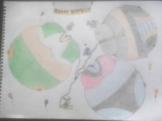 Triple (Birthday) Balloons by Prinny129