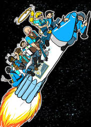 BLU team goes to the MOOOOON by kytri