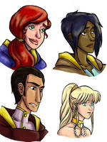 Yun and Co. Portraits by kytri
