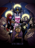 Old Woman Josie and the Angels by kytri