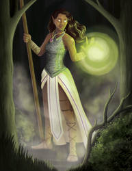 Blind Oracle Character Illustration by PraiseMoyer